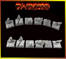 20 x 20mm Daemon Bases - Set of 5