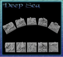 25 x 25mm Deep Sea Bases - Set of 4