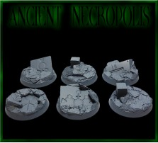 32mm Ancient Necropolis Round Bases - Set of 4