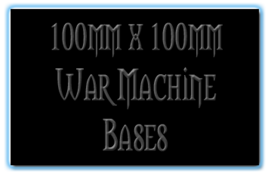 100 x 100mm Bases