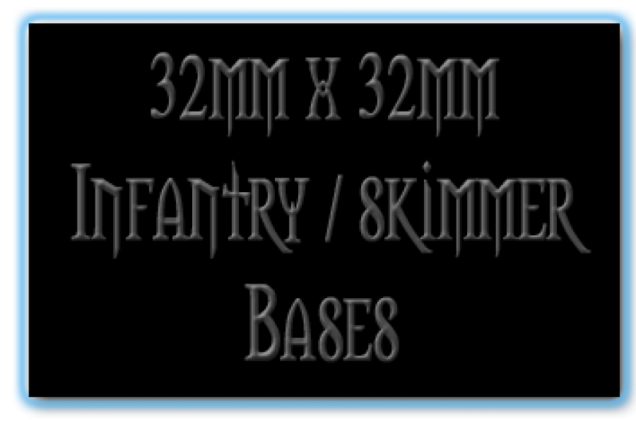32 x 32mm Bases
