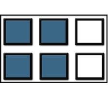 Custom SKIRMISH Tray / 40mm Bases / 2 rows wide - 2 ranks deep