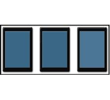 Custom SKIRMISH Tray / 50 x 75mm Bases / 3 rows wide - 1 rank deep