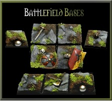 25 x 25mm Battlefield Bases - Set of 4