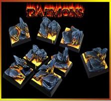 25 x 25mm Daemon Bases - Set of 4