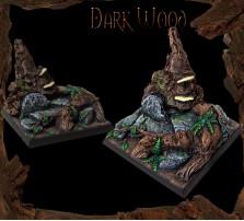 40 x 40mm Dark Wood Base A