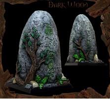 40 x 40mm Dark Wood Base D