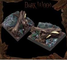 40 x 40mm Dark Wood Base B