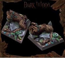 40 x 40mm Dark Wood Base C