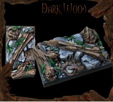 50 x 75mm Dark Wood Base A
