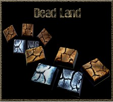 20 x 20mm Dead Land Bases - Set of 5