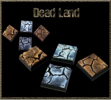 25 x 25mm Dead Land Bases - Set of 4