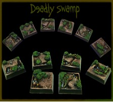 20 x 20mm Deadly Swamp Bases - Set of 5