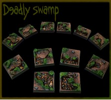 25 x 25mm Deadly Swamp Bases - Set of 4