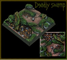 40 x 40mm Deadly Swamp Base A