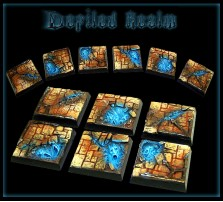 25 x 25mm Defiled Realm Bases - Set of 4