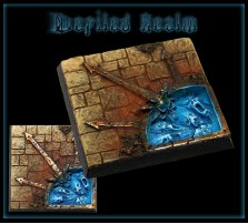 40 x 40mm Defiled Realm Base A