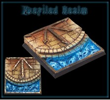 40 x 40mm Defiled Realm Base C