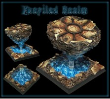50 x 50mm Defiled Realm Base D - Without Stand