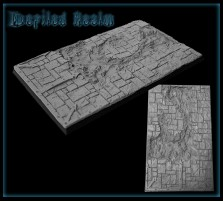 60 x 100mm Defiled Realm Base