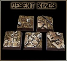 20 x 20mm Desert Kings Bases - Set of 5