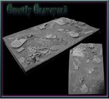 100 x 150mm Ghostly Graveyard Base A