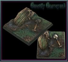 40 x 40mm Ghostly Graveyard Base A