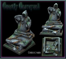 40 x 40mm Ghostly Graveyard Base D