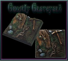 50 x 50mm Ghostly Graveyard Base A