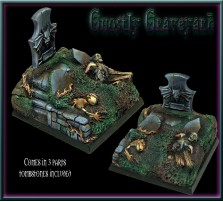 50 x 50mm Ghostly Graveyard Base B