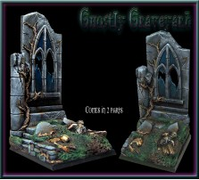50 x 50mm Ghostly Graveyard Base C