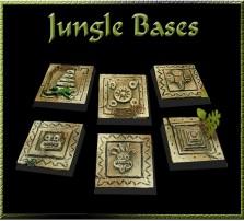 25 x 25mm Jungle Bases - Set of 4