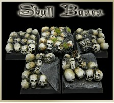 20 x 20mm Skull Bases - Set of 5