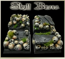 25 x 25mm Skull Bases - Set of 4