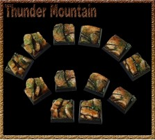 20 x 20mm Thunder Mountain Bases - Set of 5