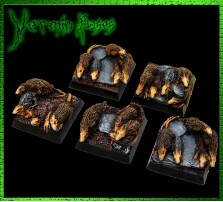 20 x 20mm Vermin Bases - Set of 5