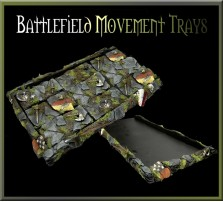 Battlefield Movement Tray 3x3 for Cavalry Bases