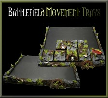 Battlefield Movement Tray 5x4 for 25mm Bases