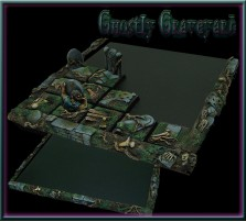 Ghostly Graveyard Movement Tray 5x5 for 20mm Bases