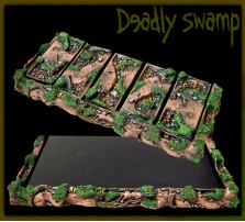 Deadly Swamp Movement Tray 5x2 for 25mm Bases