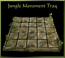 Jungle Movement Tray 5x5 for 25mm Bases