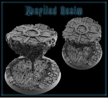 60mm Defiled Realm Round Base C - Without Stand