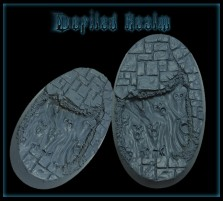 60 x 35mm Defiled Realm Oval Base B