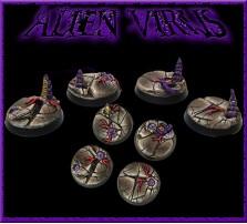 25mm Alien Virus Round Bases - Set of 5