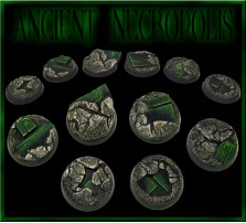 25mm Ancient Necropolis Round Bases - Set of 5