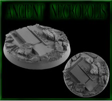 50mm Ancient Necropolis Round Base A