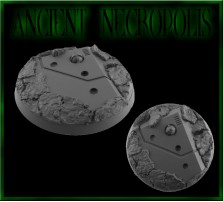 50mm Ancient Necropolis Round Base B