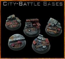 25mm City Battle Round Bases - Set of 5