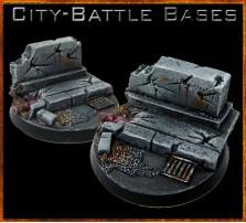 40mm City Battle Round Base A