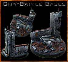 60mm City Battle Round Base A